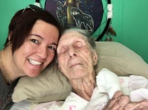 me with my grandma in November 2015