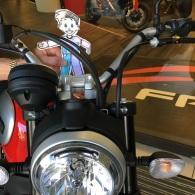 I got to ride a Ducati motorbike